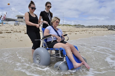 Accessible City Beach Launch event
