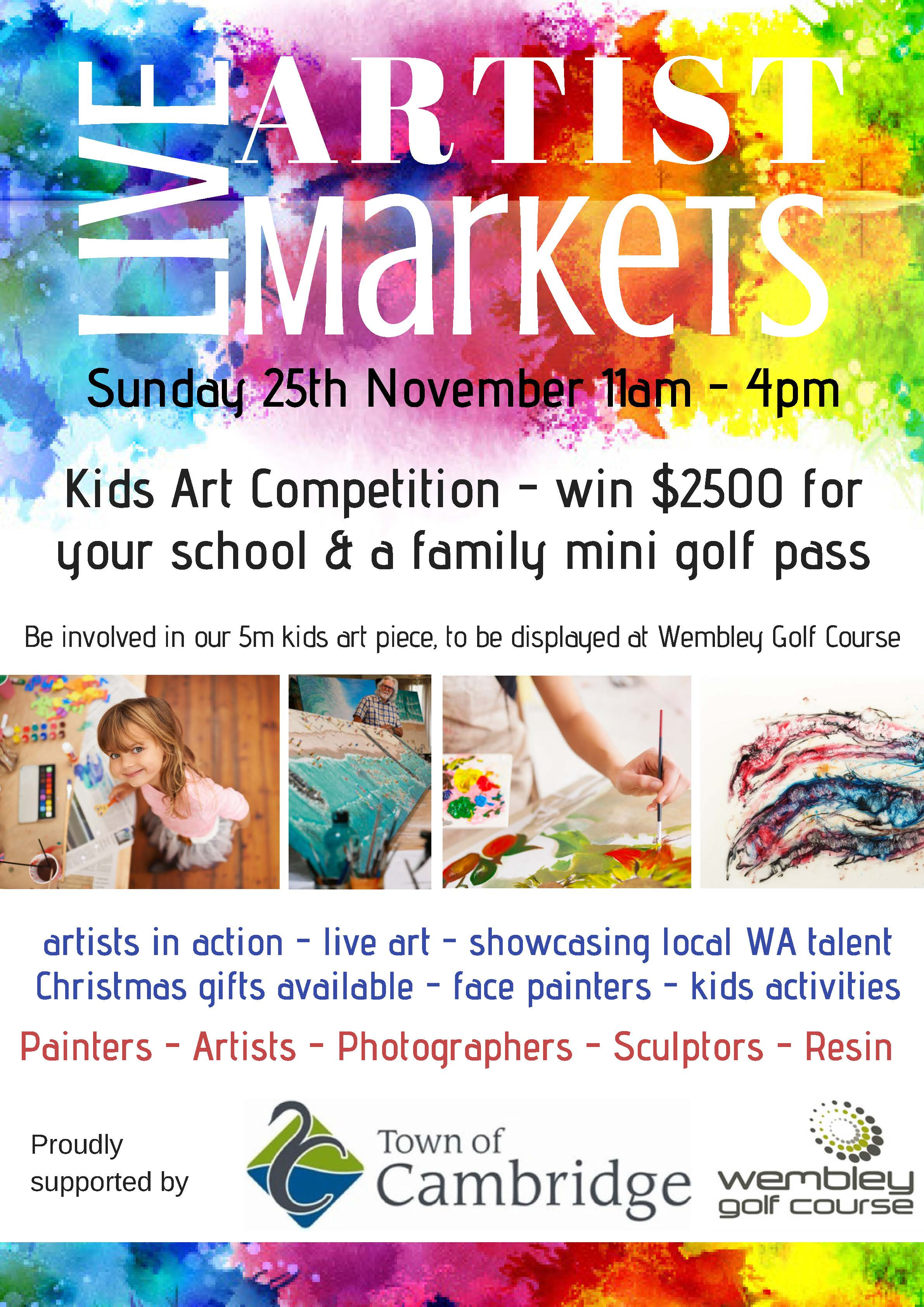 Live Art Market at the Wembley Golf Course