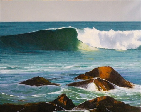 Green Wave 6. Oil on canvas, 41 x 51 cm. $380. Colin Madgwick, ph. 0415819510.jpg