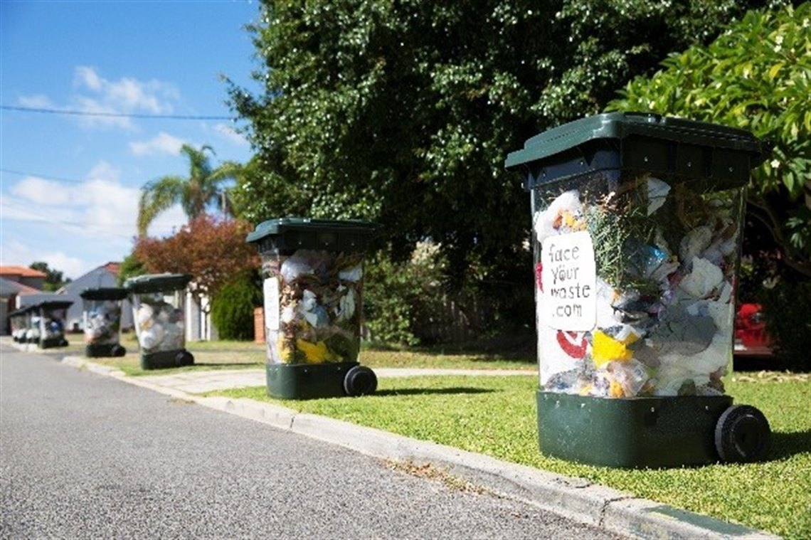 Face Your waste bins